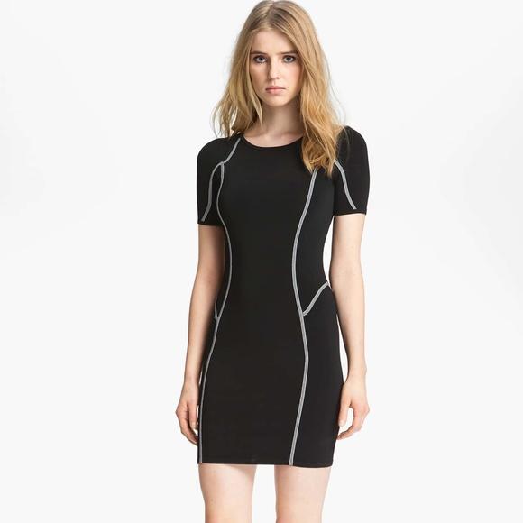 A.L.C. Dresses & Skirts - A.L.C. Black Bandage Short Sleeve Evans Dress XS
